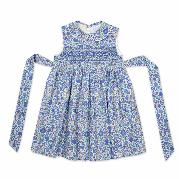 BELLA BLUE LIBERTY PRINT SMOCK DRESS
