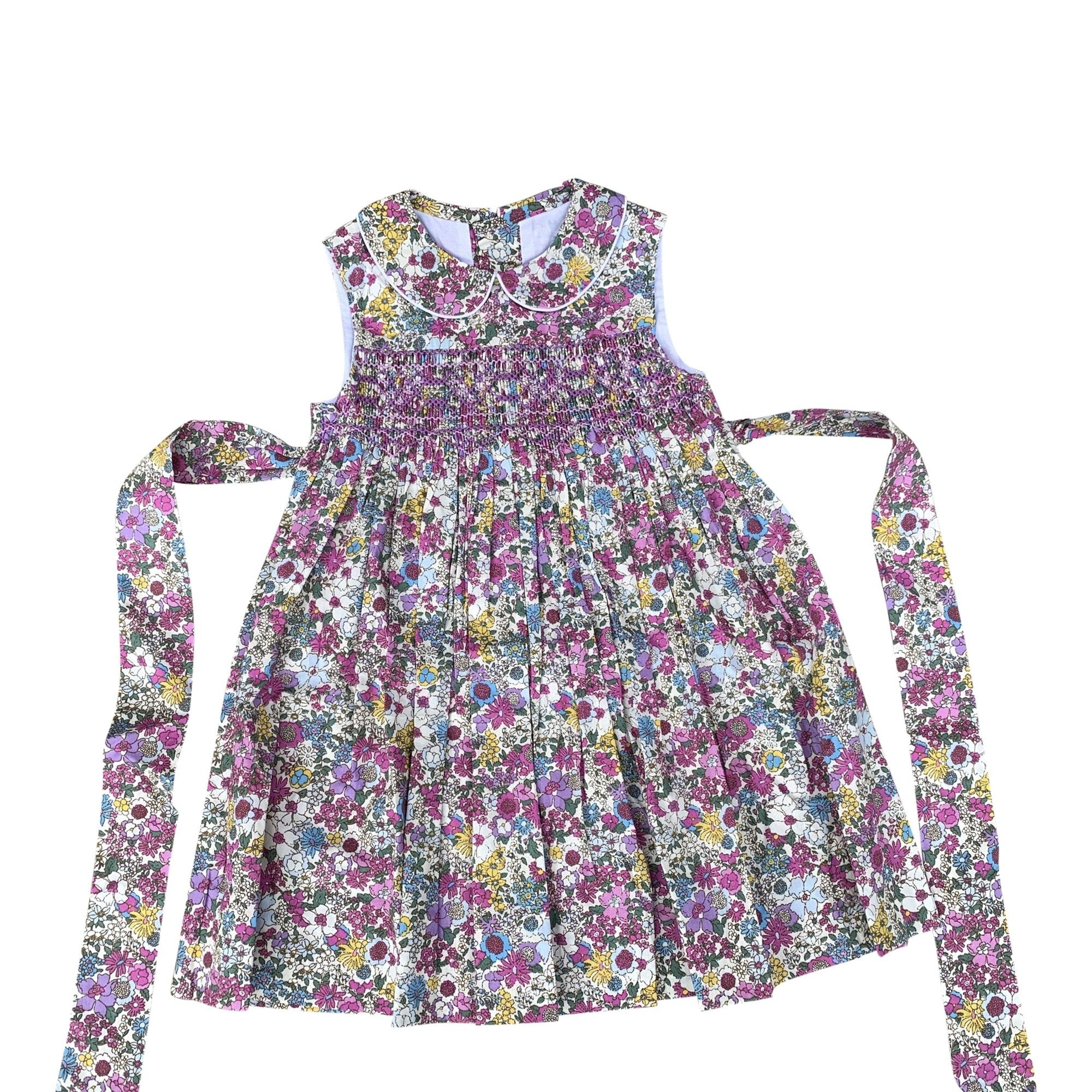 BELLA PURPLE LIBERTY PRINT SMOCK DRESS