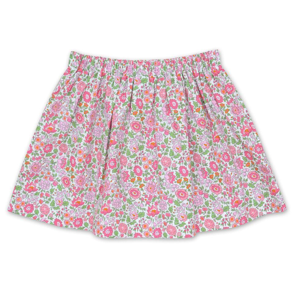 FLORAL LIBERTY PRINT SKIRT IN PINK