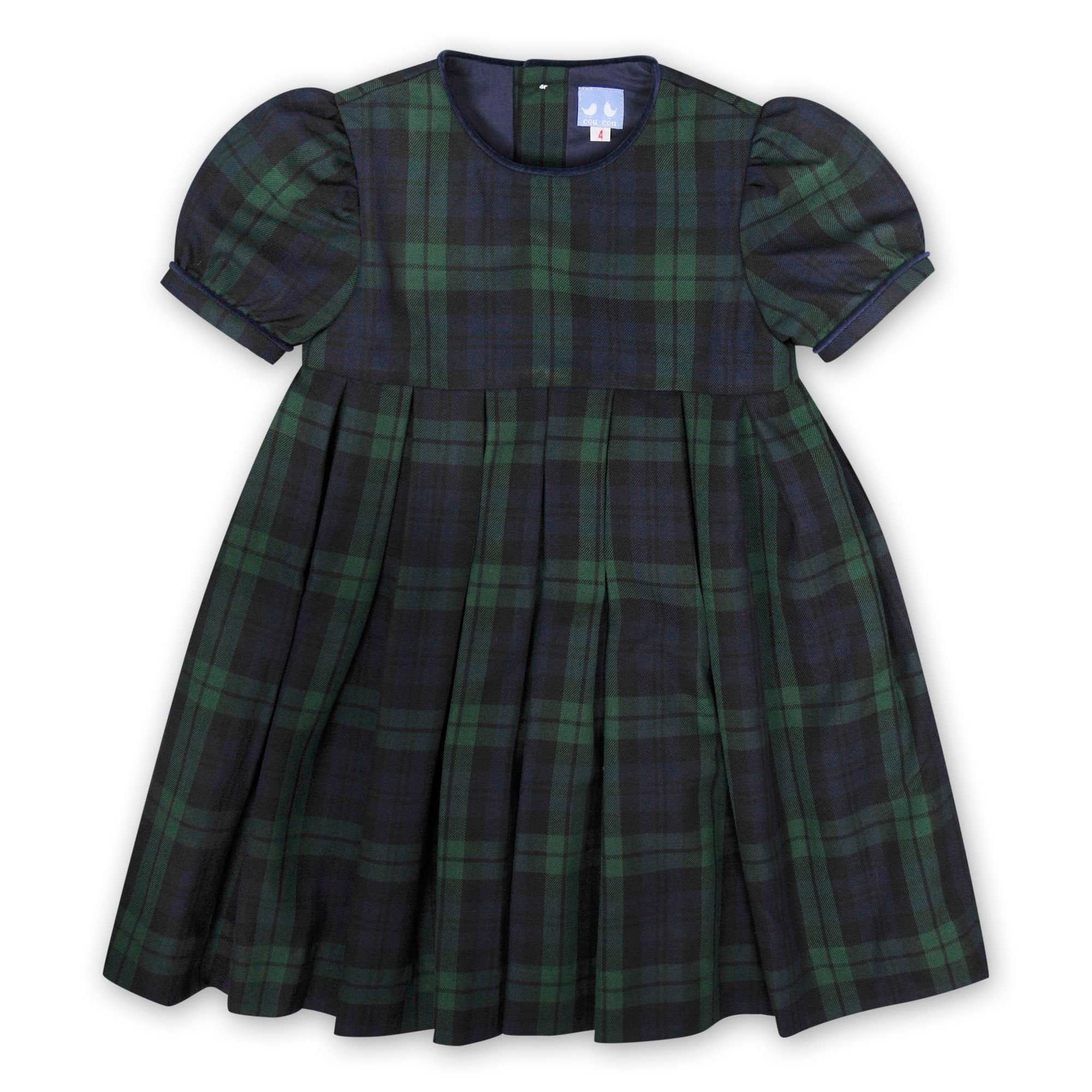 GIRLS COLLARED TARTAN DRESS