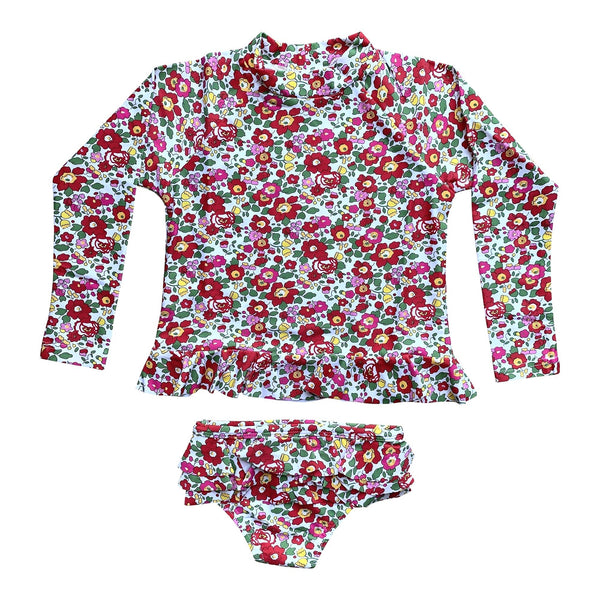 AVA RED LIBERTY SWIMWEAR SET