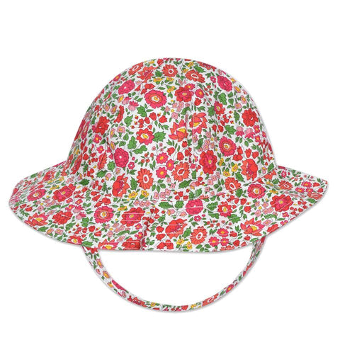 FLORRIE HAT IN RED LIBERTY PRINT