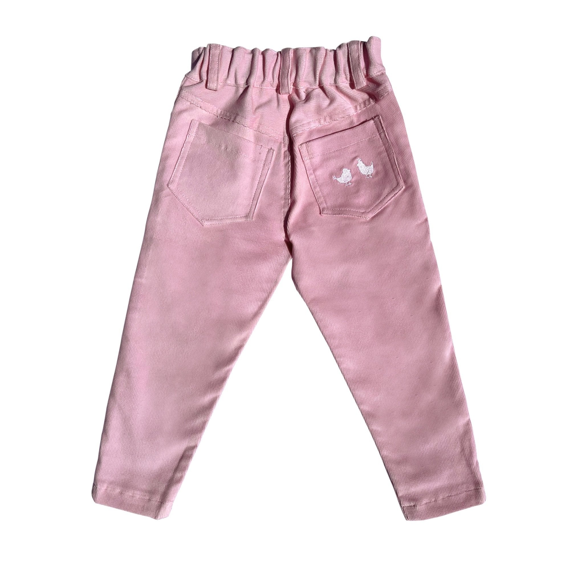 CORDUROY PANTS IN PINK