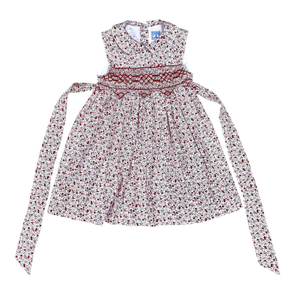 BELLA PINK ROSE PRINT SMOCK DRESS
