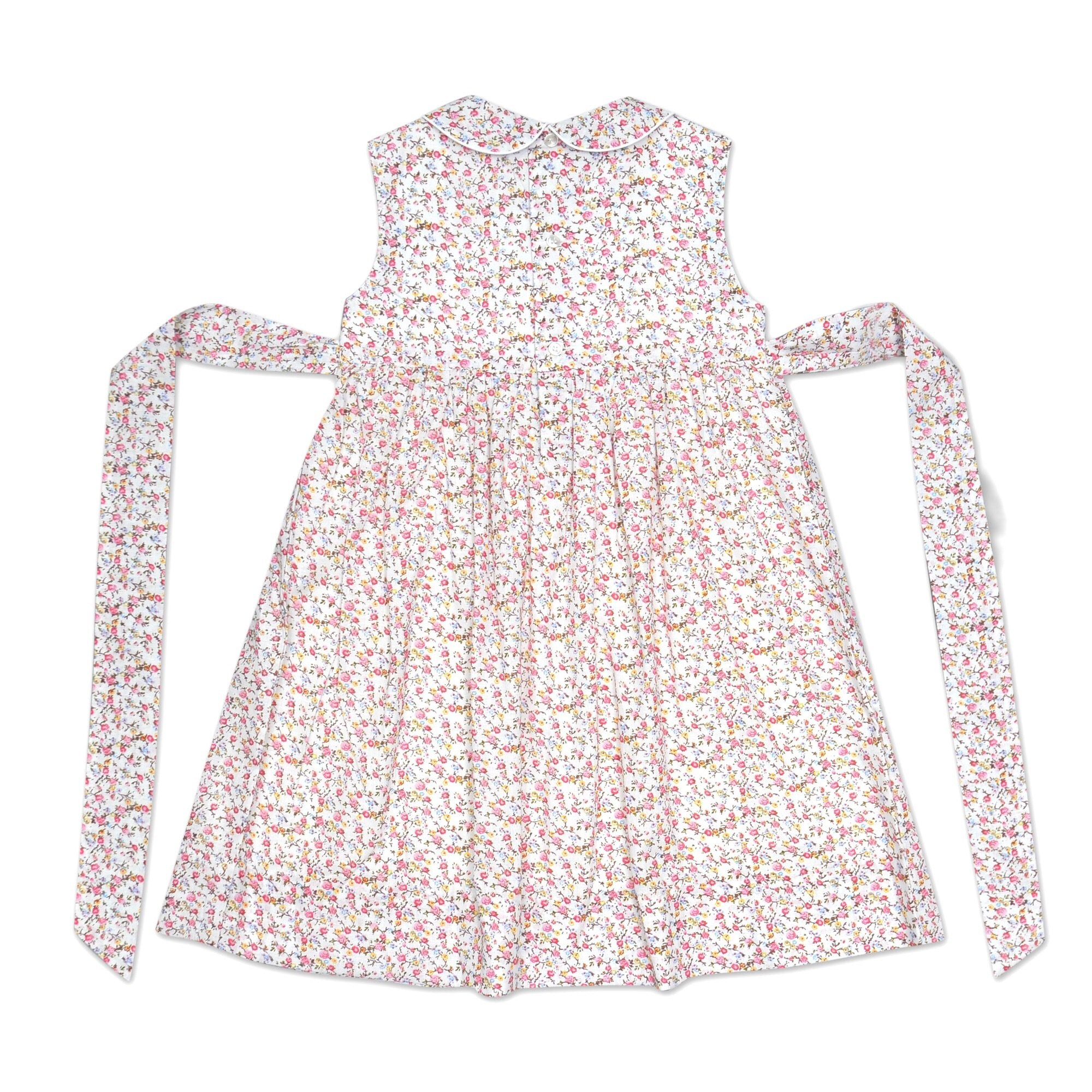BELLA WHITE FLORAL SMOCK DRESS