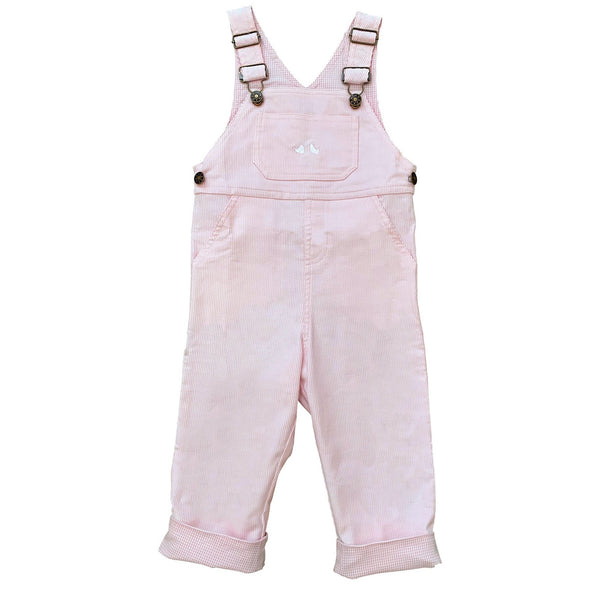 CORDUROY OVERALLS IN PINK
