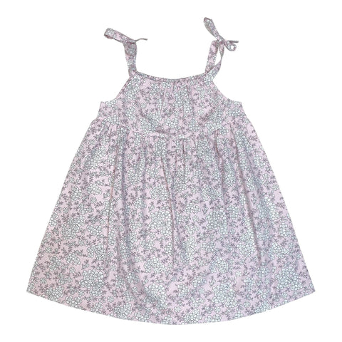 CLEMENTINE DRESS IN PALE PINK FLORAL PRINT