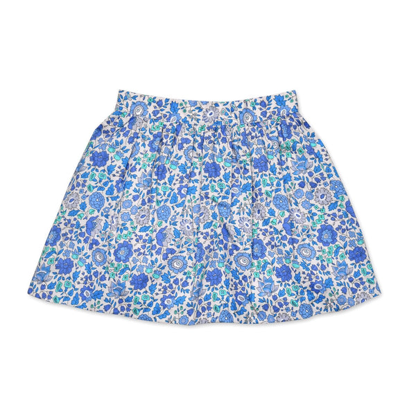 FLORAL LIBERTY PRINT SKIRT IN BLUE