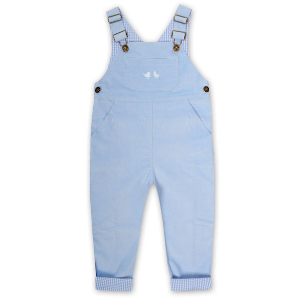 CORDUROY OVERALLS IN PALE BLUE