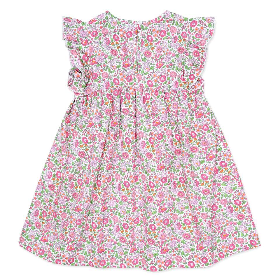 FRILL SLEEVE LIBERTY PRINT DRESS IN PINK