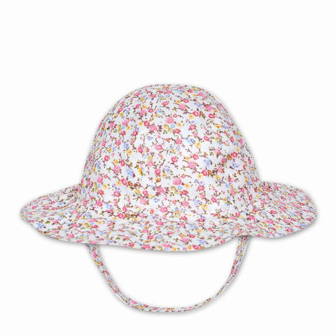 FLORRIE HAT IN WHITE FLORAL PRINT