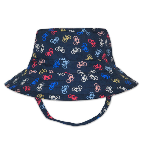 BOYS NAVY BICYCLE PRINT HAT