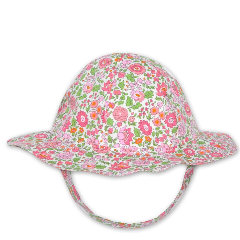 FLORRIE HAT IN PINK LIBERTY PRINT