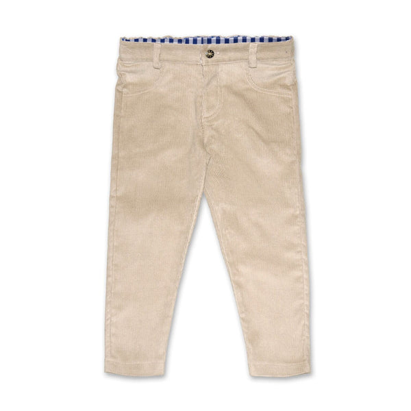CORDUROY PANTS IN BEIGE