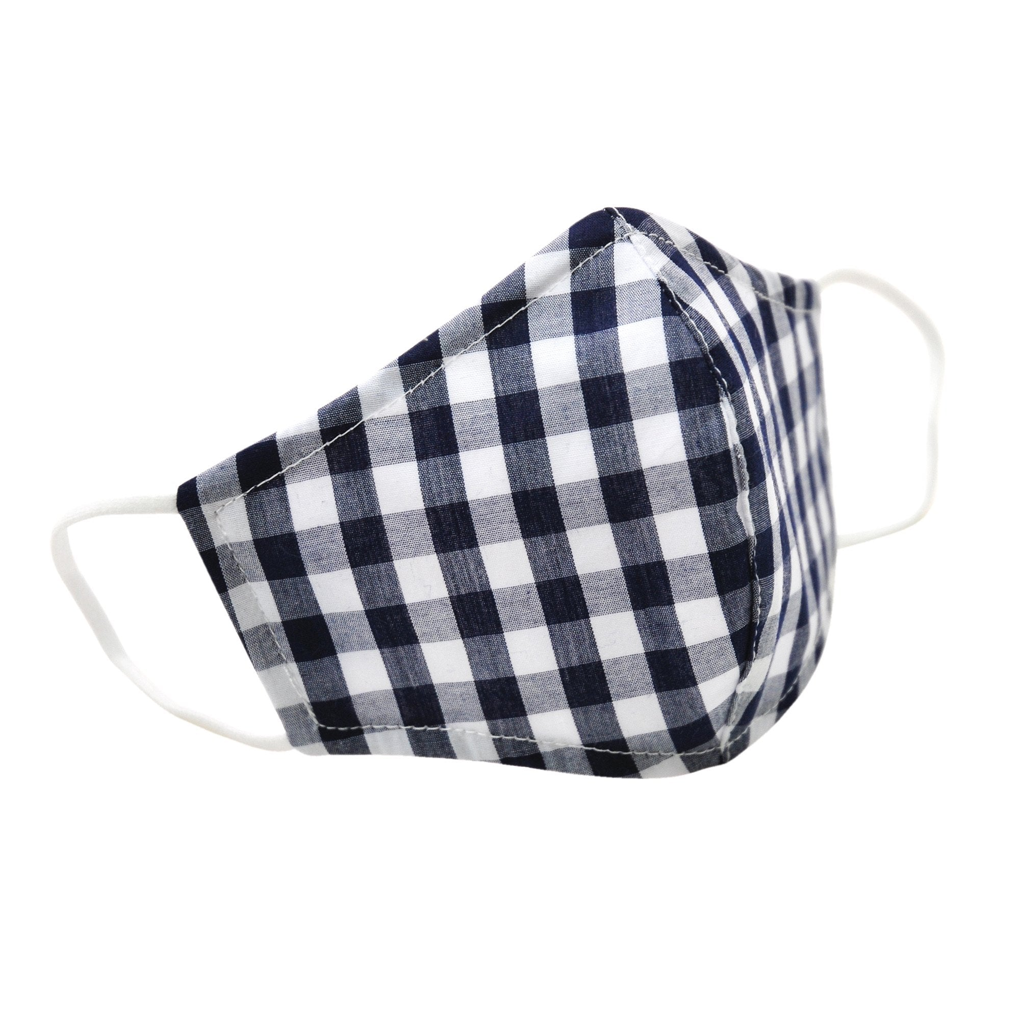 FACE MASK IN NAVY GINGHAM