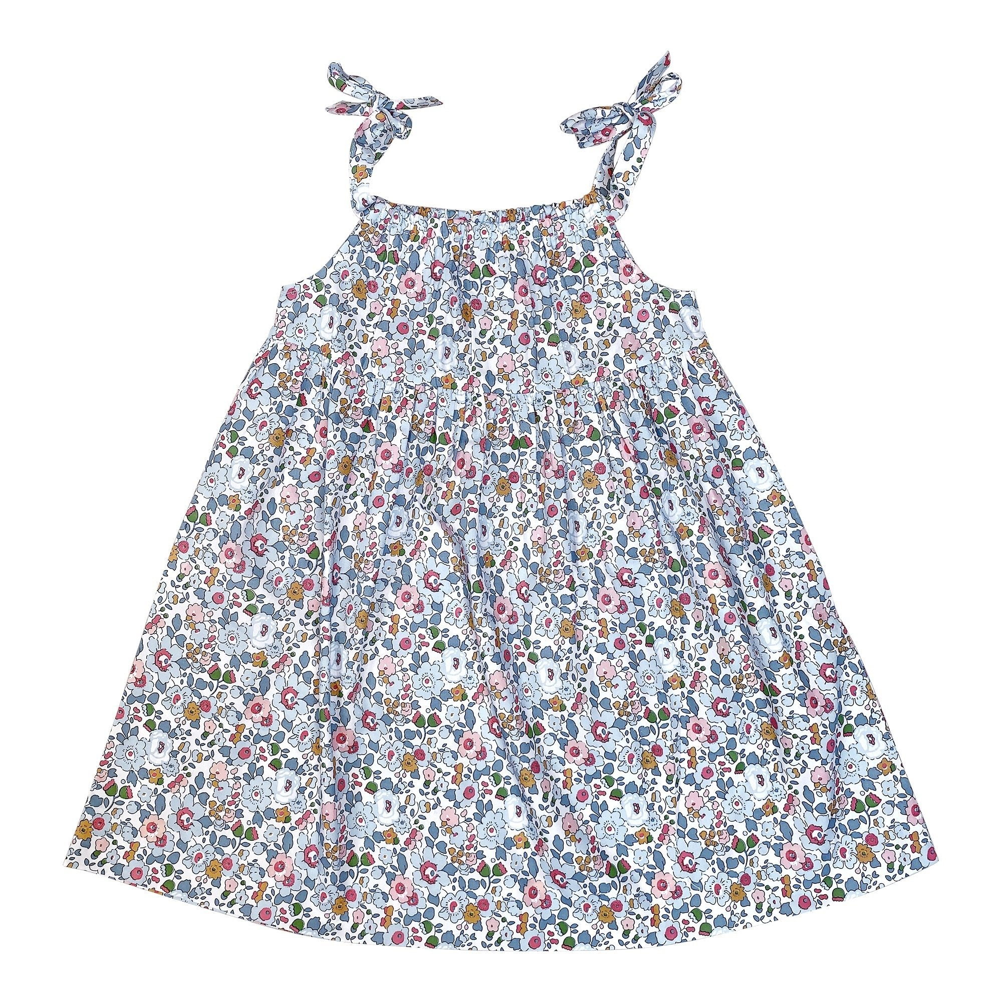 CLEMENTINE DRESS IN PALE BLUE LIBERTY PRINT