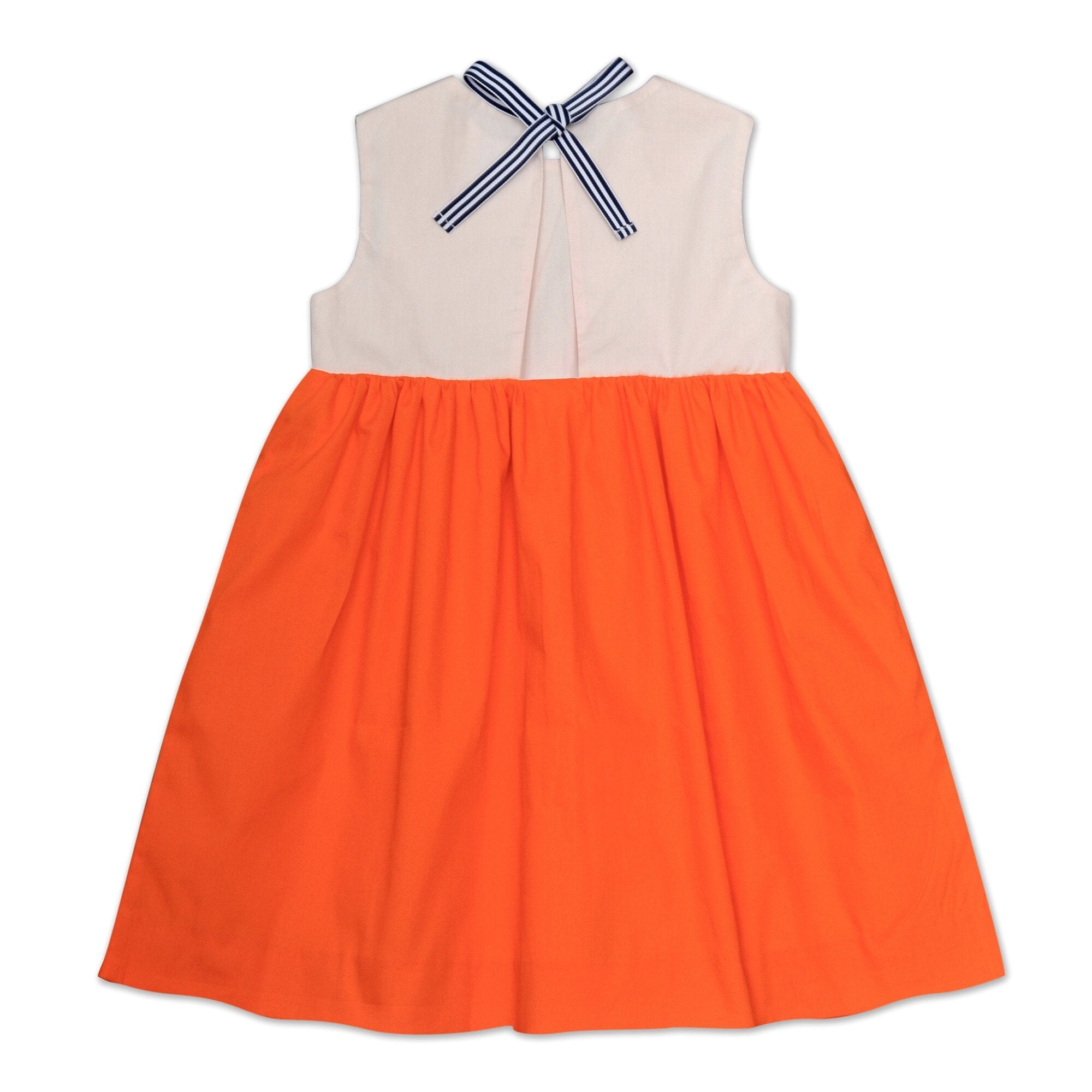 COCO RIBBON DRESS IN PINK AND ORANGE