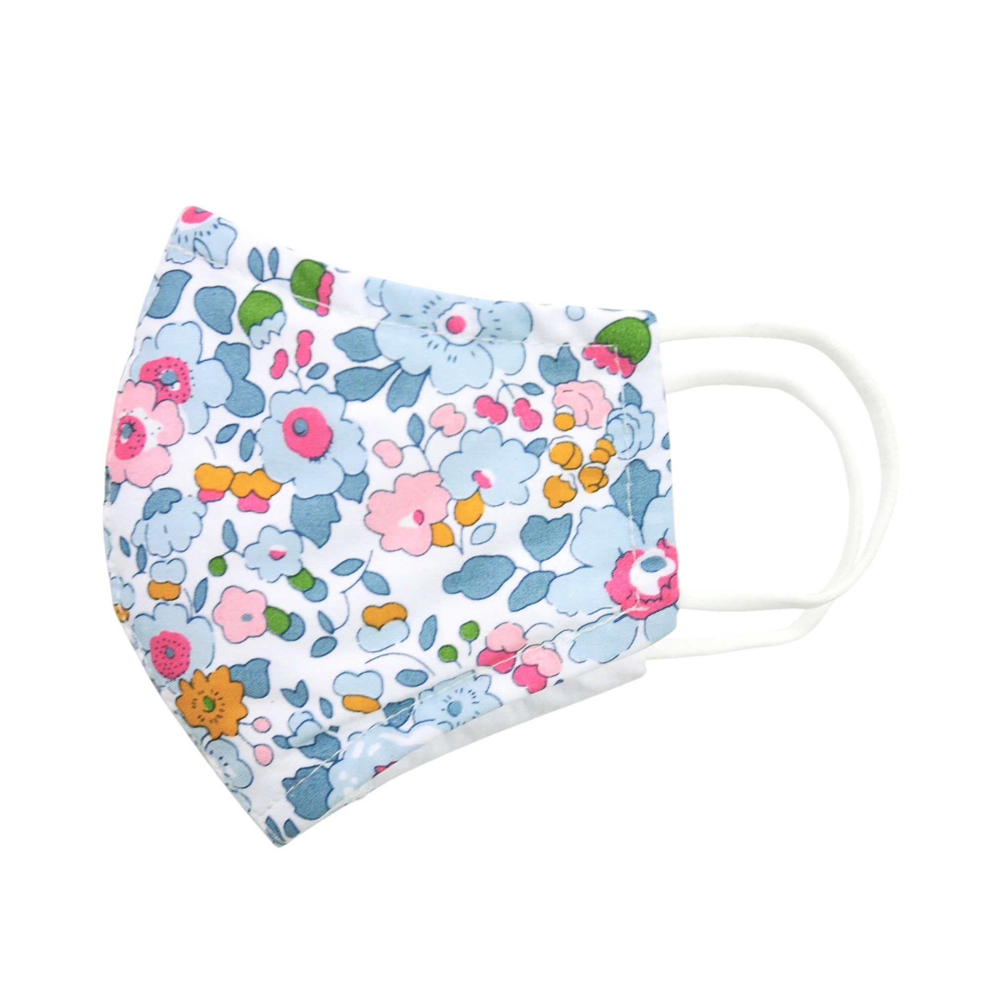 FACE MASK IN PALE BLUE LIBERTY PRINT
