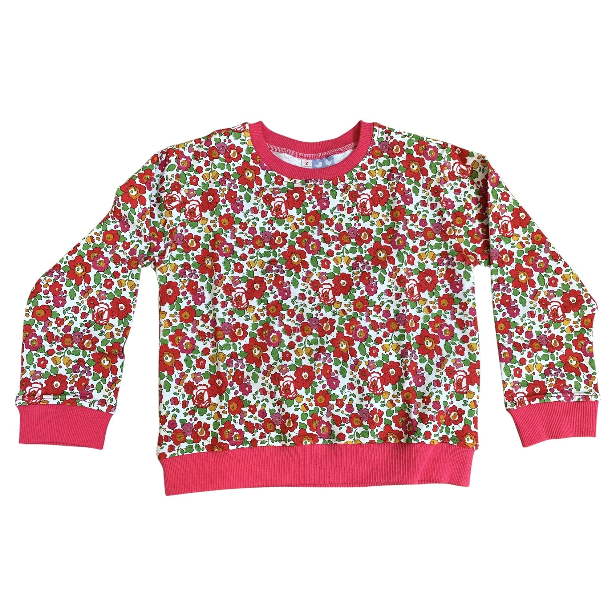 BESSIE RED LIBERTY PRINT SWEATER