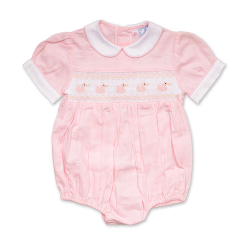 TILLY PINK DUCK SMOCKED ROMPER
