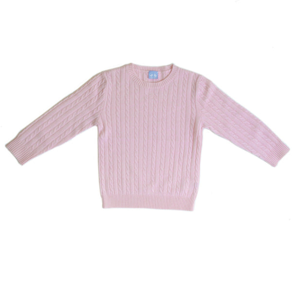 CASHMERE CABLE KNIT JUMPER IN PINK