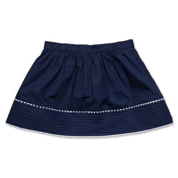 PLEATED NAVY SKIRT