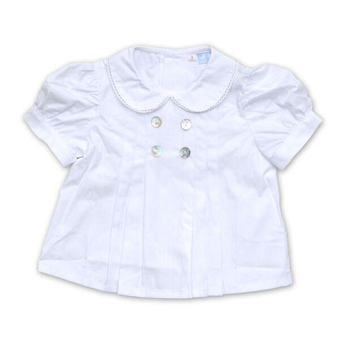 COLLARED WHITE PLEATED SHIRT