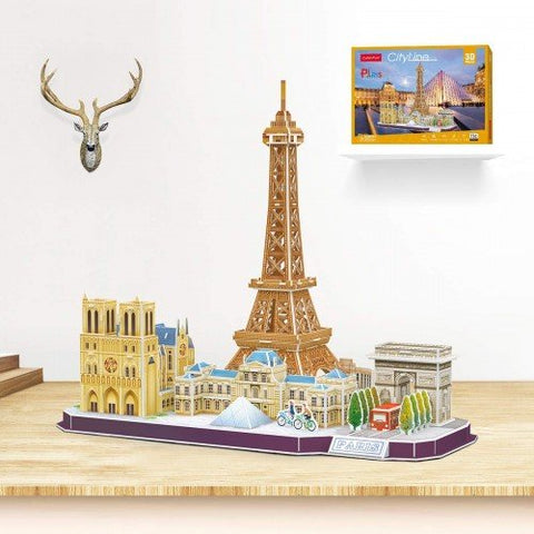 3D Puzzle - City Line Paris