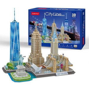 3D Puzzle - City Line New York City (123pcs)