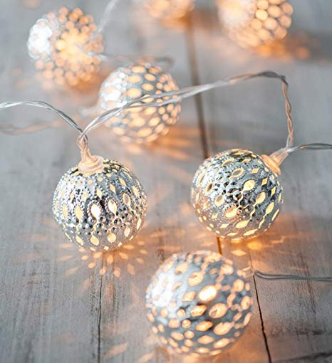 Kikkerland - Silver Globe String Lights