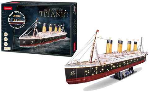 3D Puzzle - Titanic with LED Unit (266pcs)
