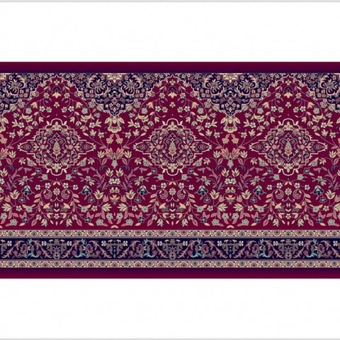 Madina Rawdha – Family Prayer Mat 2.00m x 1.30m (Red)
