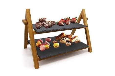Artesa tiered slate serving stand