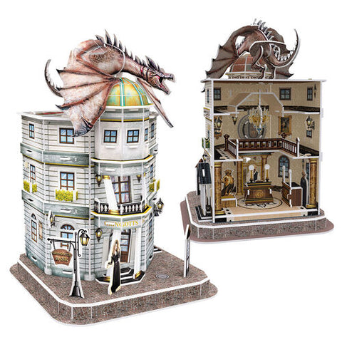 3D Puzzle - Harry Potter : Diagon Alley - Gringotts Bank (74pcs)