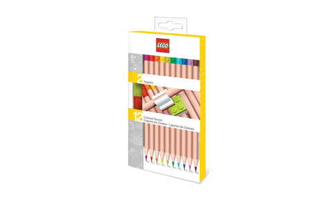 Lego Stationery - Coloured Pencils with Toppers (12 pack)