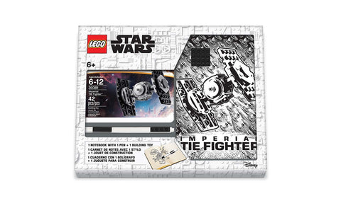 Lego Stationery - Star Wars TIE Fighter with Notebook & Pen