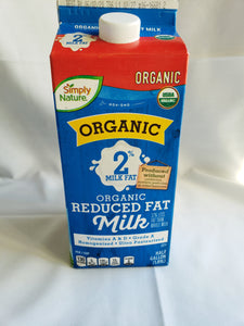 Dairy, Milk, Organic 2% (1/2 Gallon)