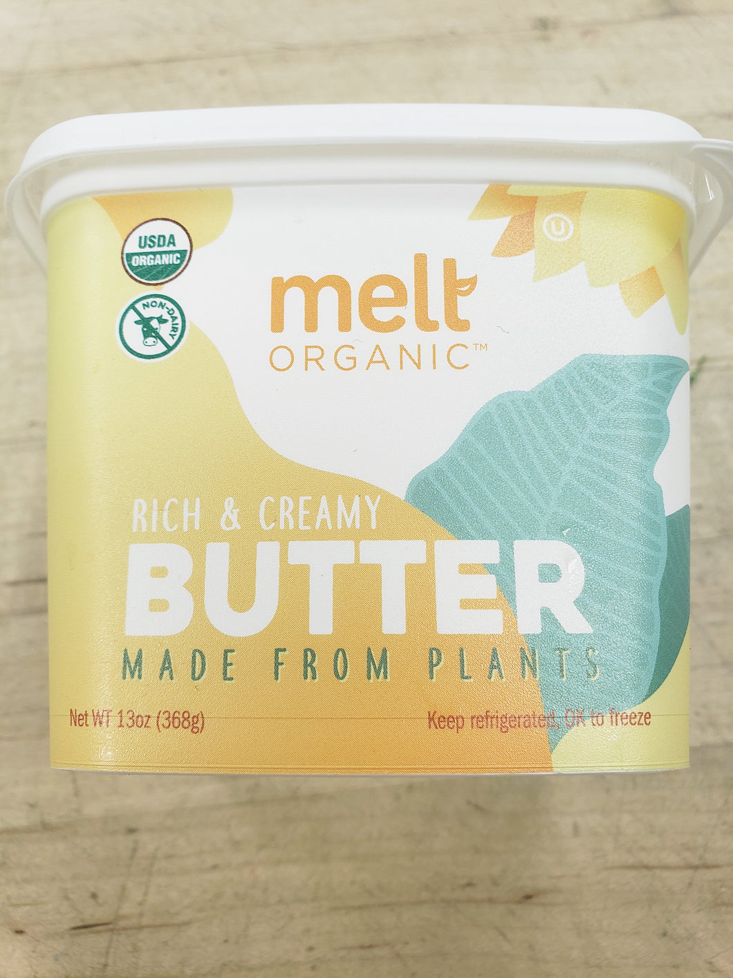 Butter, Non Dairy Plant Based, Organic, Melt GMO Free (13oz)