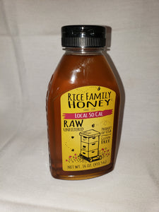 Honey, Local, So Cal, Raw, Gluten Free(16oz)