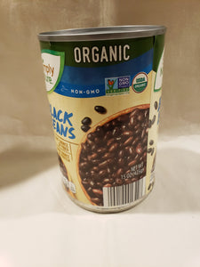 Beans, Black, Organic, Non GMO, Canned (15.5oz Can)