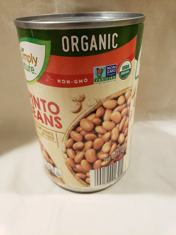 Beans, Pinto, Organic, Non GMO, Canned (15.5oz Can)