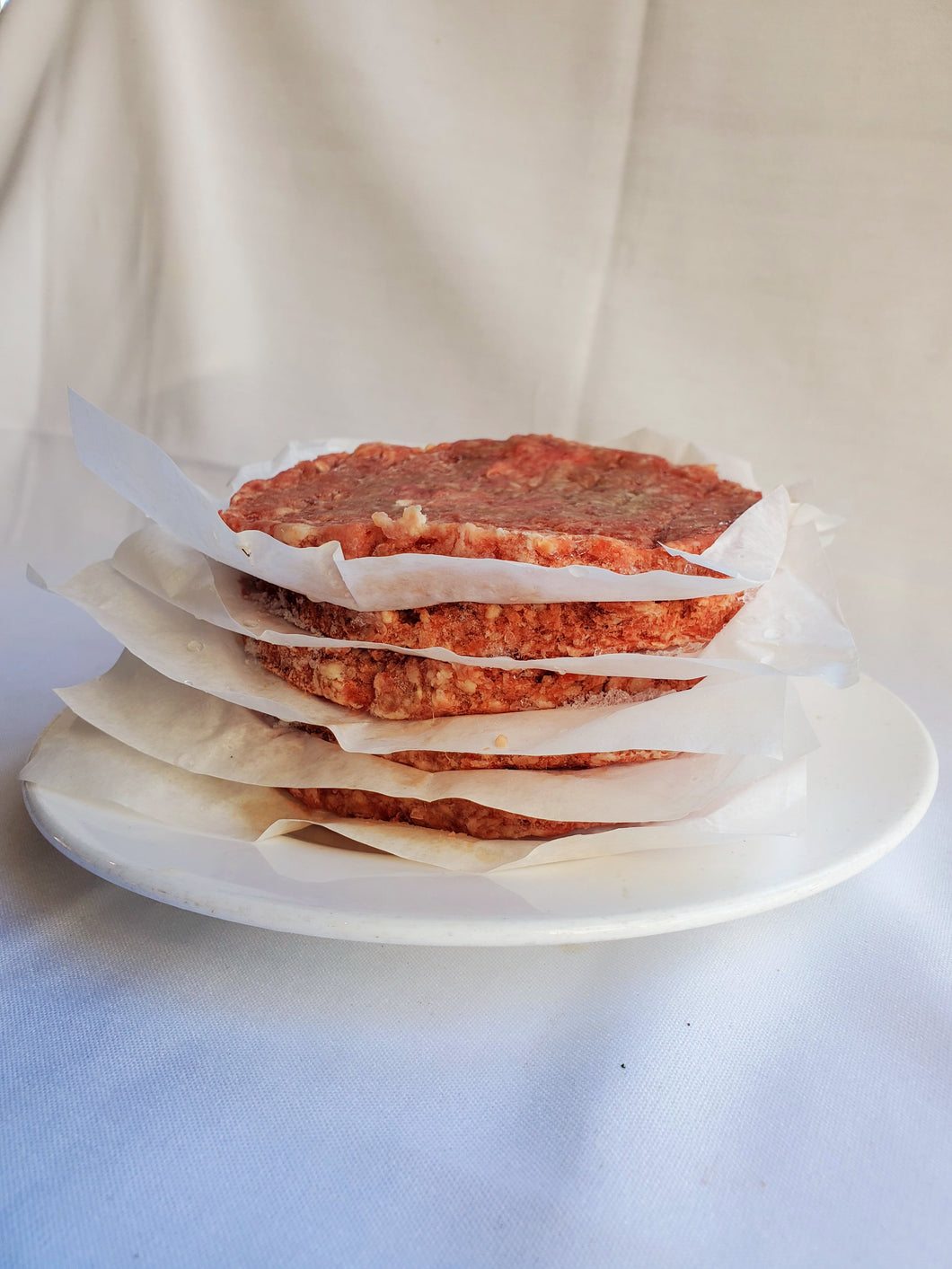 Meat, Burger, Beef 80/20, Hormone & Antibiotic Free (5 - 1/4 lb Patties)