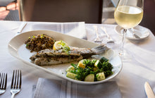 Load image into Gallery viewer, Grilled 'Loup De Mer' Mediterranean Sea Bass, Entrée (Hot)
