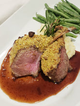 Load image into Gallery viewer, Pistachio Dijon Australian Rack of Lamb, Entrée (Hot)