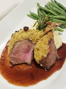 Pistachio Dijon Australian Rack of Lamb, Entrée (Hot)