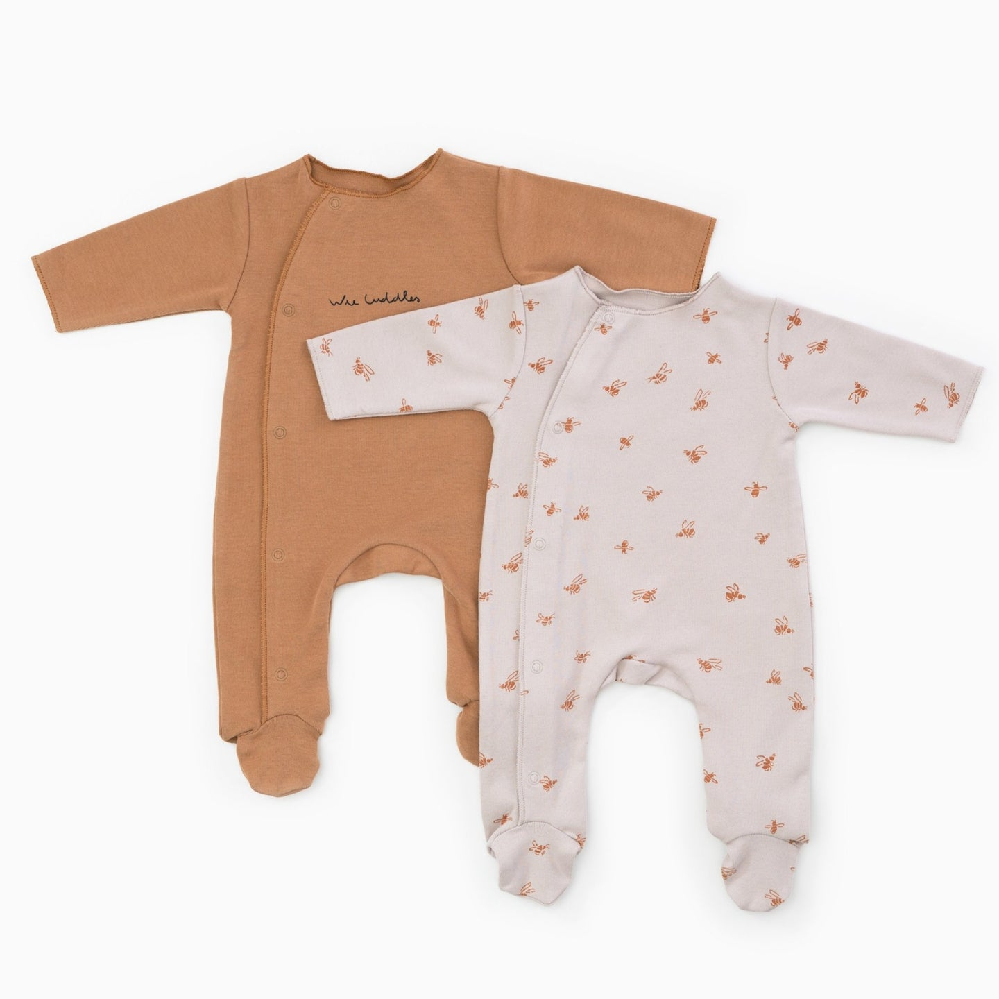 PLAY UP Babygrow-Set gerippt mit Bienen Print Organic Cotton