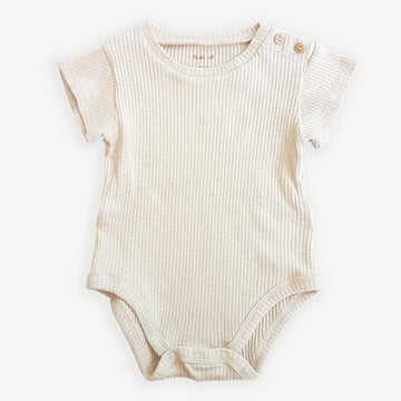 Play Up Body Kurzarm Flamé gerippt Organic Cotton