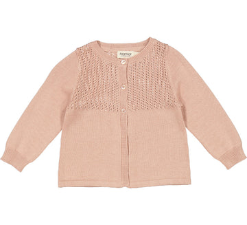 MarMar Cardigan Trold Pointelle Tencel/ Cotton Mix