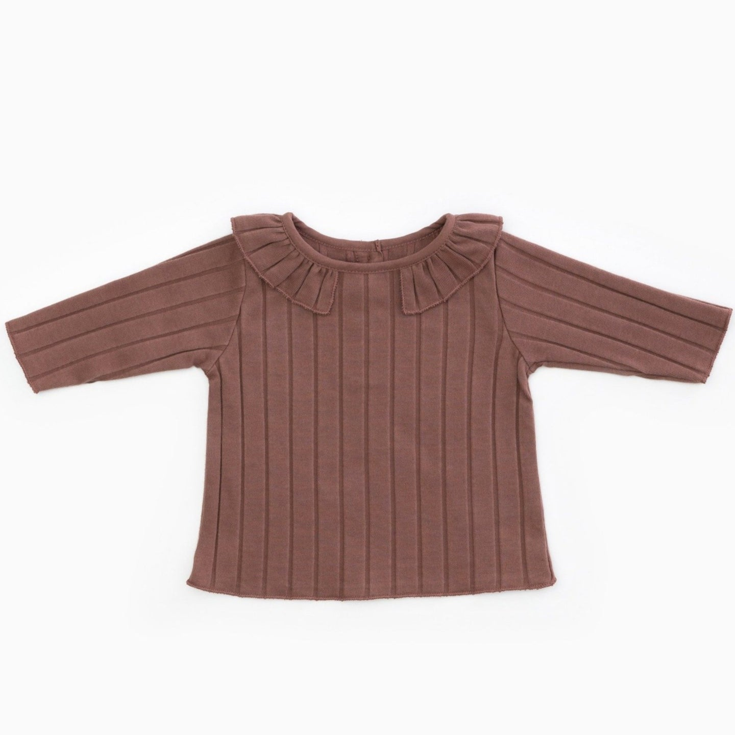 PLAY UP Langarm-Shirt gerippt mit Kragen Organic Cotton