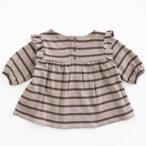 PLAY UP Langarm- Shirt mit Volants Organic Cotton